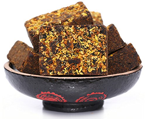 Dry Brown Sugar (helen ou @ Yunnan specialty: pure handmade brown sugar with osmanthus boild with eggs or desserts for good looking relieving pain in your special days 250g/8.8oz/0.55lb)