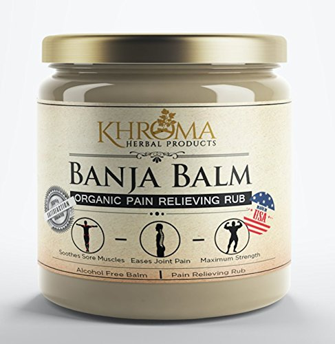 Banja Balm - Maximum Strength Organic Pain Soothing Rub - For Sore Joints and Muscles - 2 oz in a Glass Bottle ()