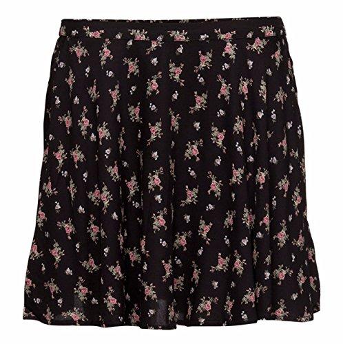 Denim & Supply Ralph Lauren Women's Floral A-Line Miniskirt (X-Large, Black (Ralph Lauren Black Denim)