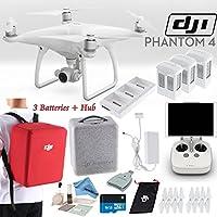 DJI Phantom 4 Quadcopter Backpack Bundle: Includes 3 Phantom 4 Batteries, Phantom 4 Wrap Pack (Red), 16GB MicroSD Card and more...
