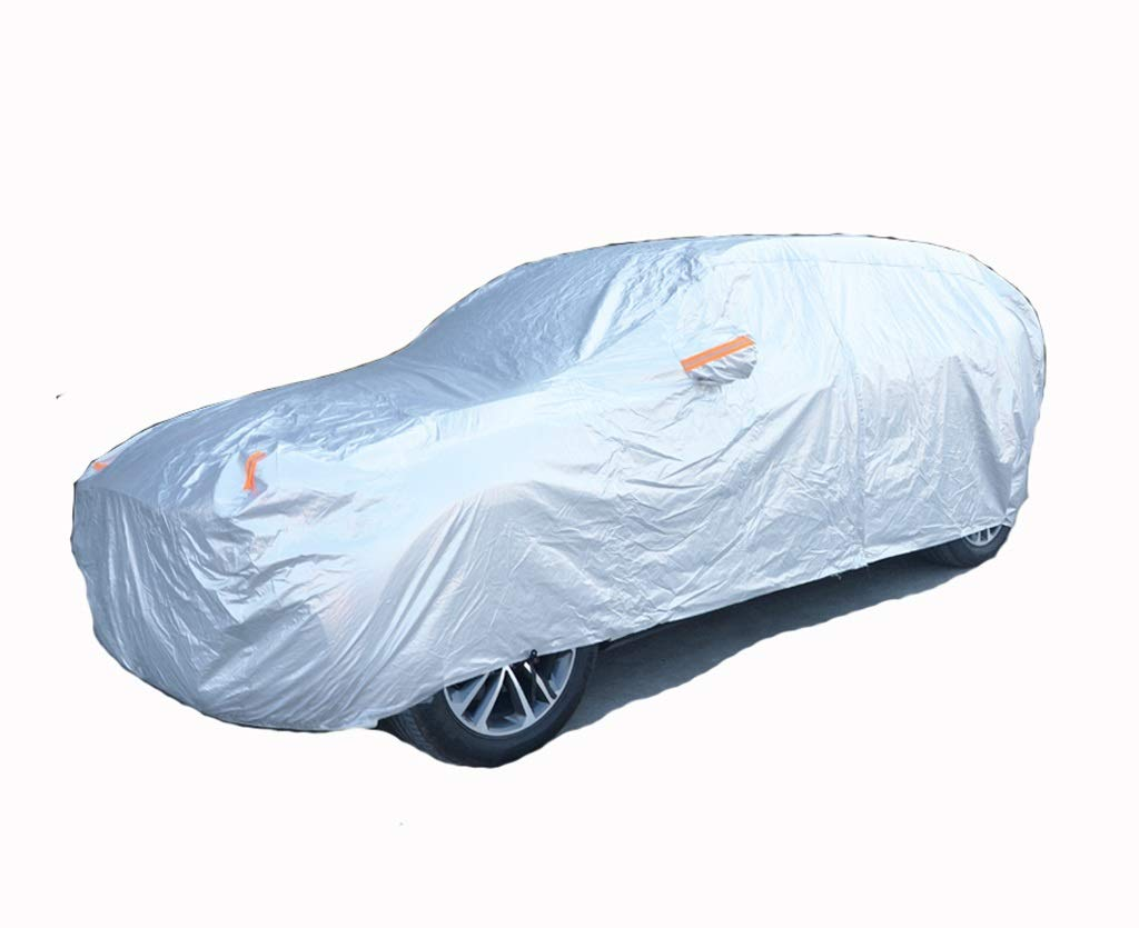 GAOY-CAR COVERS Jaguar F-pace Car Clothing Sunscreen Rain Snow Dustproof Frost Cover Cloth Cover Car Cover Jacket (Color : Silver, Size : F-pace)