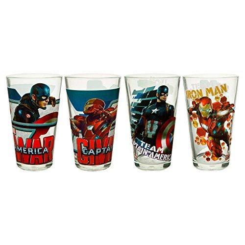 Zak! Captain America: Civil War Glass Tumbler Set Tumblers - 4 Count