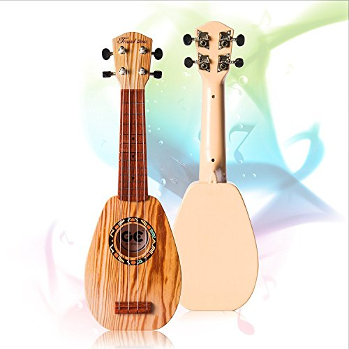 17 Inch Guitar Ukulele Toy For Kids ,Guitar Children Educational Learn Guitar Ukulele With the Picks and Strap Can Play Musical Instruments Toys (17 Inch) - Image 2