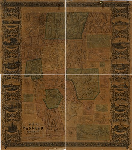 Map: 1857 of Tolland County, Connecticut|Connecticut|Real Property|Tolland County|Tolland County Conn| - Tolland County Map