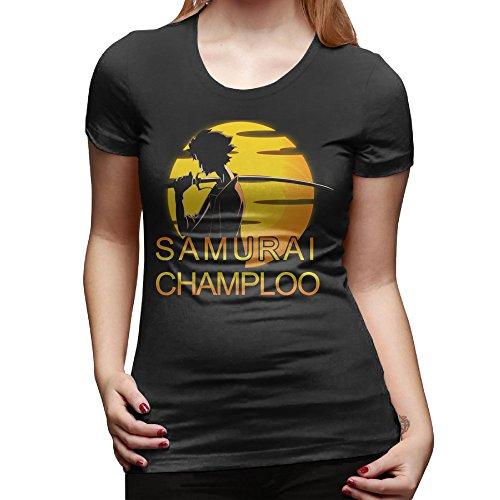 Samurai Champloo Japanese Anime Women Crew Neck T Shirt