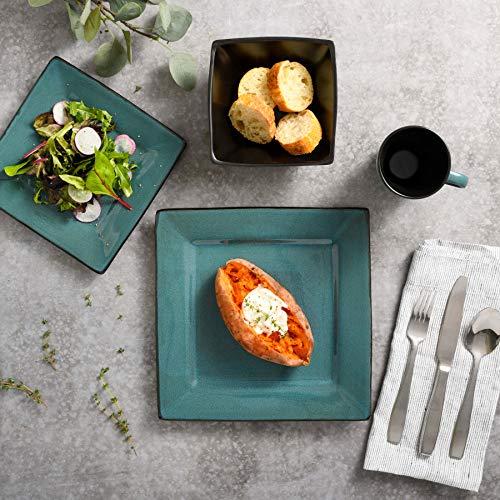 Gibson Elite Kiesling 16 Piece Dinnerware Set, Turquoise