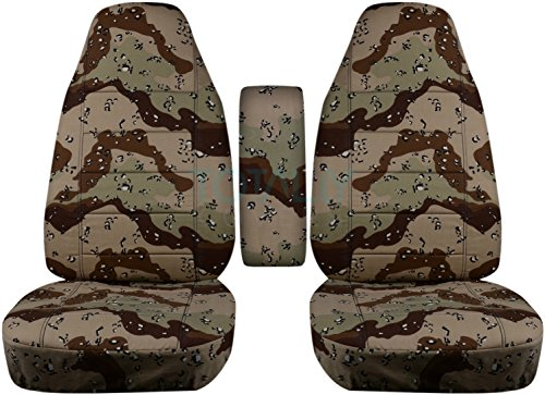 Storm Fit Bucket - Totally Covers Fits 1998-2003 Ford Ranger Camo Truck Bucket Seat Covers w Center Armrest Cover: Desert Storm Camouflage (16 Prints) 1999 2000 2001 2002 Regular Cab/XCab w/wo Lumbar/Recliner