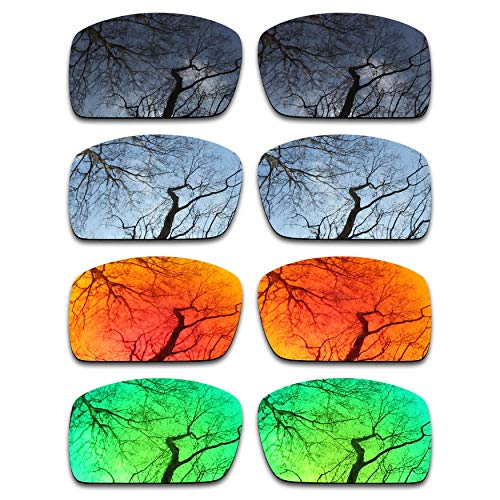 (ToughAsNails Set of 4 Polarized Replacement Lenses for Oakley Oil Drum Pack-BSFE2)