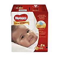 HUGGIES Little Snugglers Baby Diapers, Size 1, 100 Count