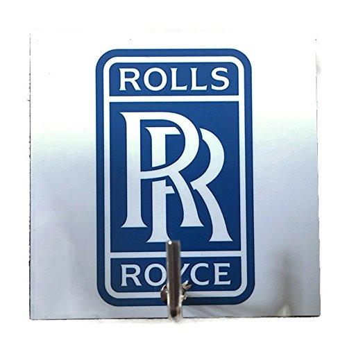Agility Bathroom Wall Hanger Hat Bag Key Adhesive Wood Hook Vintage Blue Rolls Royce Car Logo's Photo