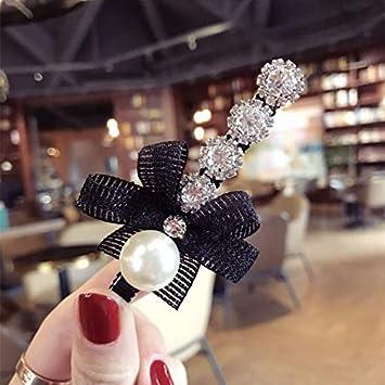 Women Pearl Rhinestone Headdress Hairpin Clip Hair Claw Accessories JL