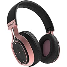 BlueAnt Pump Zone Bluetooth Over Ear HD Wireless Headphones With Mic. 30+ Hour Battery, Huge Bass Sweatproof Ideal For Gym Workouts Sports Running On iPhone & Android Phones (Black Rose Gold)