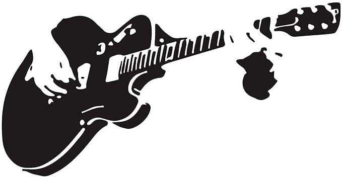 F-blue Guitarra PVC Etiqueta de la Pared DIY Impermeable Tatuajes ...