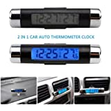 Car Temperature Clock Universal Auto Dashboard Digital Clocks with Blacklight And LCD Screen Adjustable Vehicle…