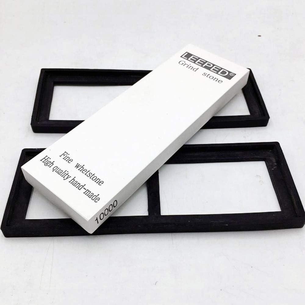 FXYHELLO 10000//12000//15000//20000 Afilador de piedras de agua japonesas profesional con base antideslizante Grano 10000 Juego de piedra de afilar para cocina