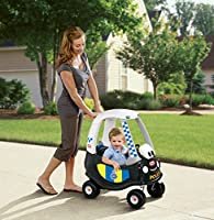little tikes- Tikes Patrol Police Car Refresh Andadores, Negro, Color Blanco (172984E3)