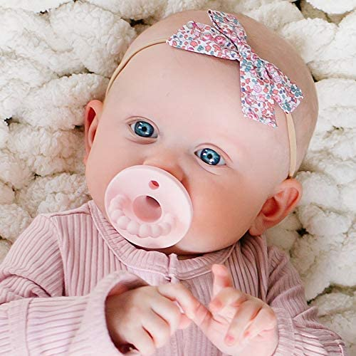 Stage 1 Cutie PAT Pink, Stage 1 - All-in-One Pacifier and Teether Massaging Teething Ring and Hideaway Binky for Growing Babies Ryan /& Rose
