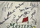 Masters golf flag signed Jordan Spieth Jack