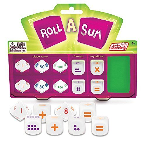 Junior Learning Roll a Sum Develop Mental Calculation and Counting Dice by Junior Learning