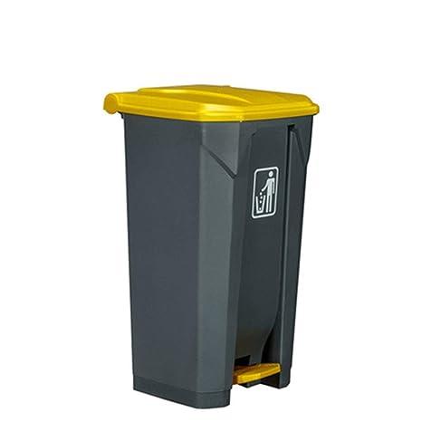 Bote de basura de reciclaje de basura de 100 litros al aire ...