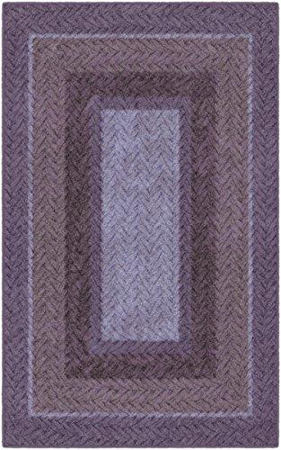 Brumlow Mills EW10154-40x60 Braided Printed Area Rug, 3'4 x 5', Purple
