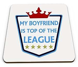Mi novio es Top Of The League diseño brillante taza posavasos