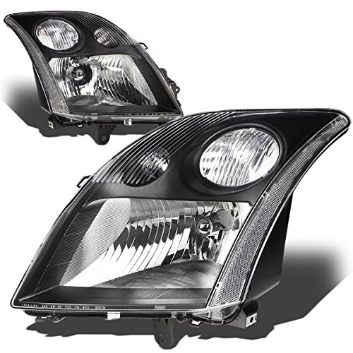 Nissan Headlight Housing (Nissan Sentra 2.0L I4 Sedan Pair of Black Housing Clear Corner Headlight Lamp)
