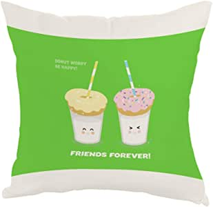 friends forever Printed Pillow, Fabric Canvas 40X40 cm