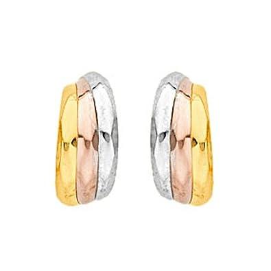 grand choix de 859ba 2eaec DIAMANTLY Boucles d'oreilles demi-Creoles 3 ors or 750 ...