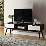 Bowery Hill TV Stand in Espresso and White