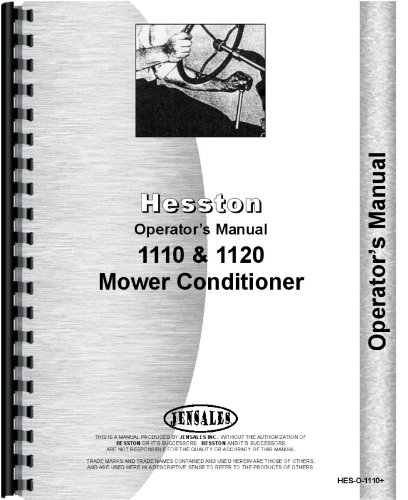 Amazon hesston mower conditioner operators manual hes o 1110 hesston mower conditioner operators manual hes o 1110 ccuart Choice Image