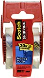 Scotch Heavy Duty Shipping Packaging Tape, 1.88 Inch x 800 Inch, Clear,Pack of 2