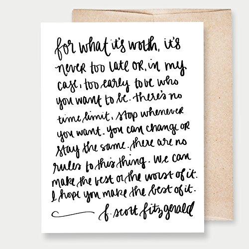 Printable Art Greeting Cards (F. Scott Fitzgerald