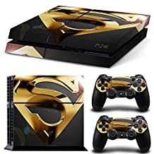 PS4 Designer Skin Decal for PlayStation 4 Console System and PS4 Wireless Dualshock Controller -Superman#2