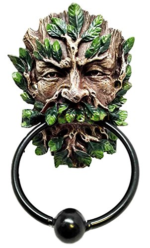 Atlantic Collectibles Whispering Spirits of Greenman Forest Deity Decorative Door Knocker Figurine