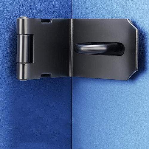 MUMA ステンレス製の掛け金とステープル 南京錠ハスプドアクラスプドアロックゲートラッチ3/4/5インチ、マットブラック (Size : 90 ° Right Angle Buckle)