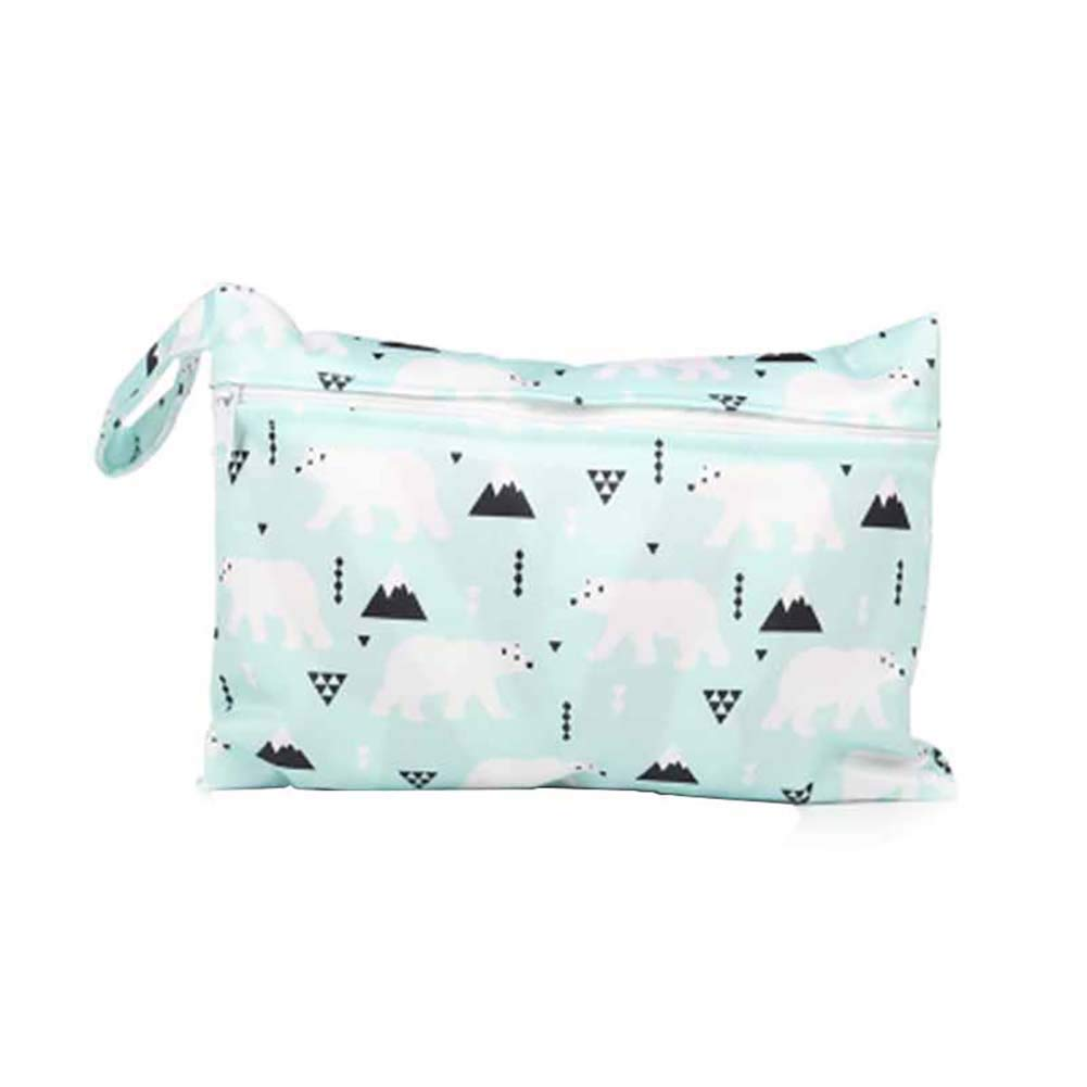 Infant Newborn Reusable Waterproof Cartoon Wet Dry Bag Diaper Nappy Pouch Cloth