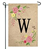 JEC Home Goods Floral Monogram Garden Flag – Summer or Spring Garden Flag 12.5 x 18 (W) Review