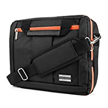 """El Prado Collection 3 in 1 Backpack and Messenger Bag for Lenovo Miix / Tab 2 A10 / Yoga / ThinkPad / Helix 10.1 to 11.6"""" Tablets (Orange)"""
