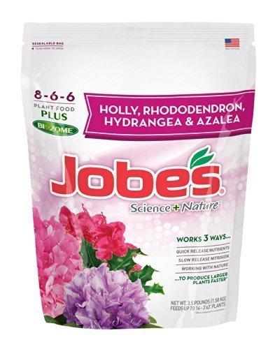 (Jobe's Azalea, Camellia, Rhododendron and Hydrangea Science + Nature Granular Fertilizer For Acid Loving Plants, 3.5 pound bag)