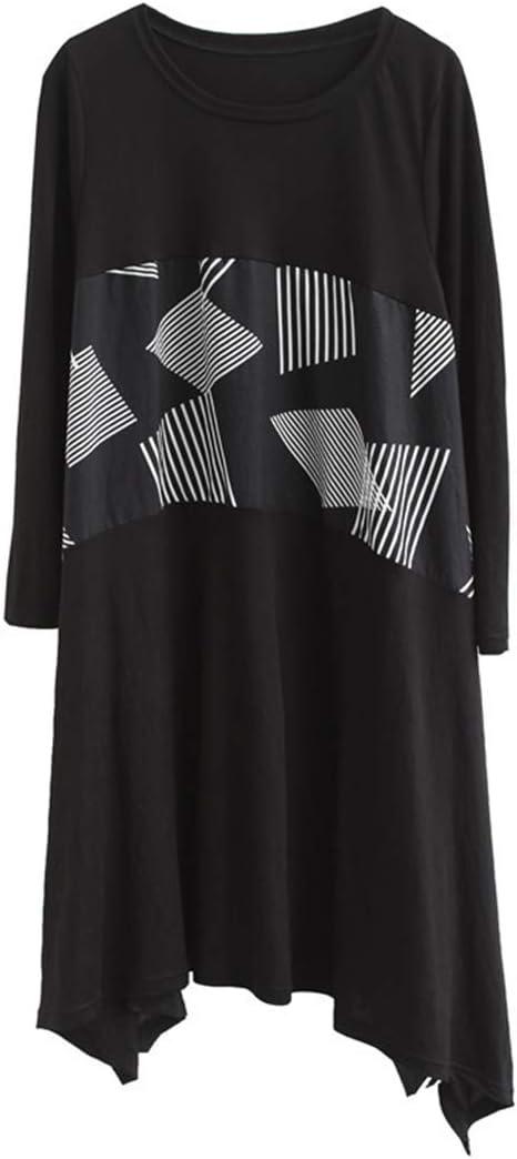 HEYG-Dress Vestir Moda Casual Ropa de Mujer Otoño/Invierno Cuello ...