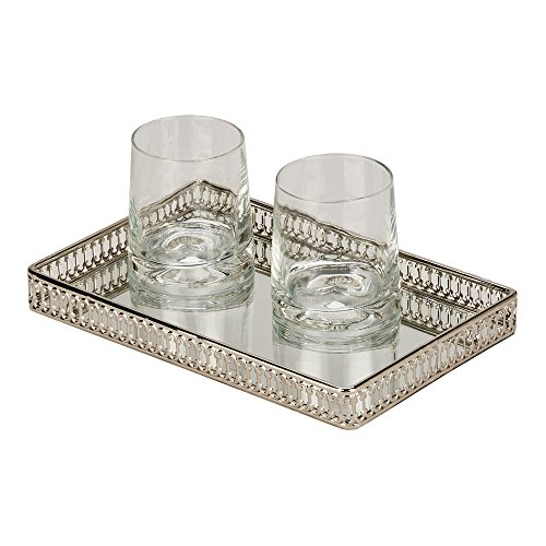 (Vanity Gallery Tray with Mirror )