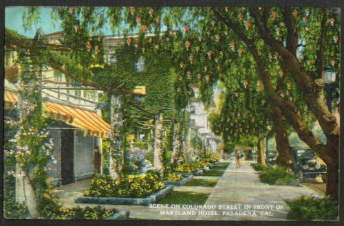 Maryland Hotel Colorado St Pasadena CA postcard - Ca Pasadena Colorado
