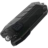 Nitecore T Series Tube Black USB Charging Keyring. Integrated Li-ion Battery. Tiny USB Rechargeable Light, 1 - 45 Lumens, Water Resistant, Maximum Runtime Up To 48 Hours