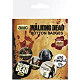 Officially Licensed The Walking Dead God Forgive Us Button Badges