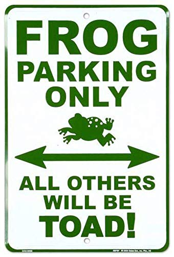 Tin Sign New Aluminum Metal Frog Parking Only Retro 11.8 x 7.8 ()