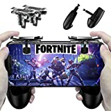 Fortnite PUBG Mobile Controller – Cinsey Game Controller, Cellphone Game Trigger, Ergonomic Design Handle Holder Handgrip Stand for 4.5-6.5inch Android IOS Phones for Battle Royale/Fortnite/PUBG