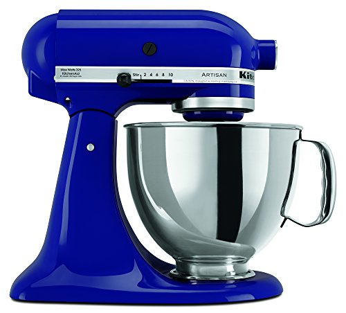 KitchenAid RRK150BU  5 Qt. Artisan Series - Cobalt Blue (Renewed) (Best Maid Cookie Factory)