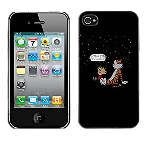 EJOY---Cubierta de la caja de protección la piel dura para el / iPhone 4 / 4S / --Calvin Hobbs