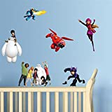 Big Hero Baymax decorative wall stickers for kids room home decorations pvc decor walls